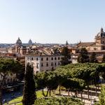 Ausblick über Rom von der Terrazza delle Quadrighe